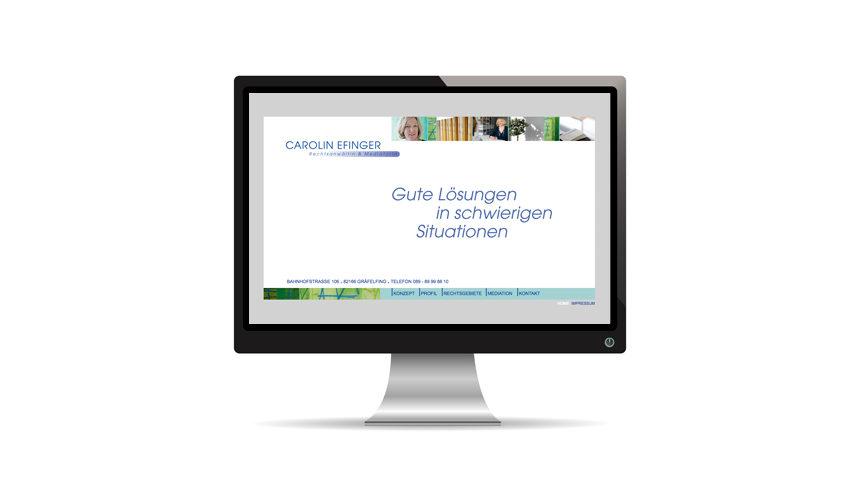 Kanzlei Efinger Website