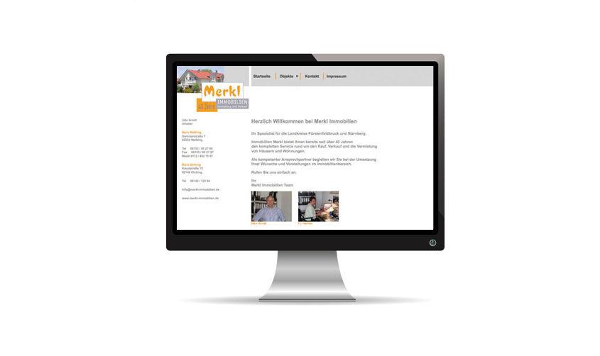 Merkl Immobilien Website