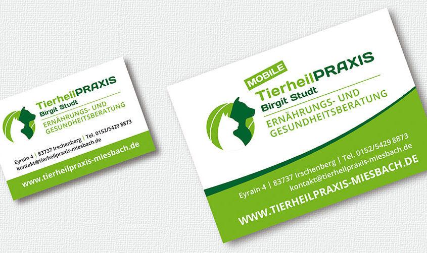 Tierheilpraxis Miesbach Visitenkarte