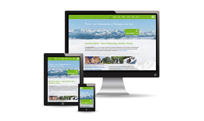 frischluft-edition / Webdesign und Shop
