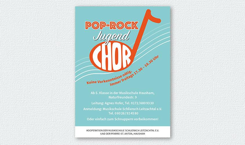 Pop-Rock Jugend-Chor Hausham / DIN-A4-Plakat