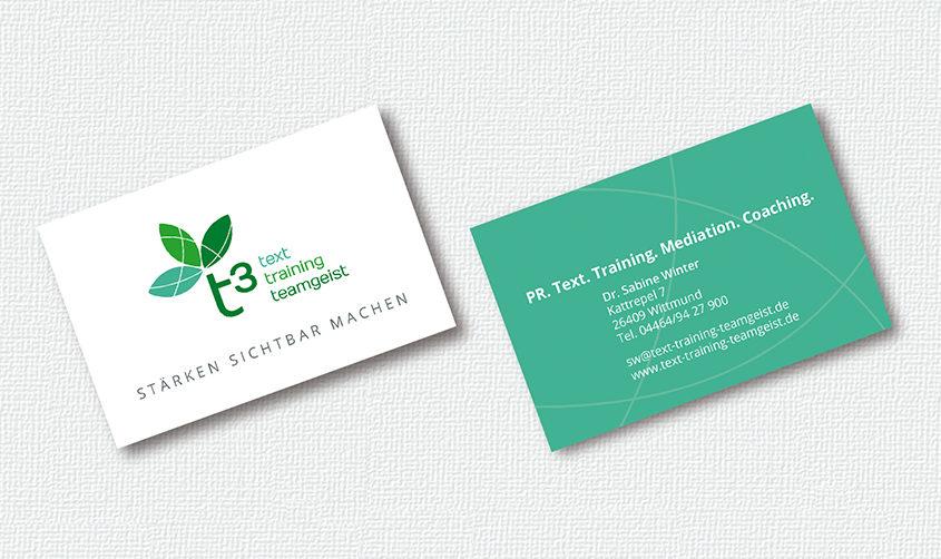 t3 – text, training, teamgeist / Visitenkarte